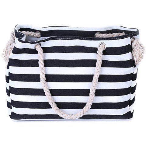 Shops Casual Striped Canvas Beach Bag