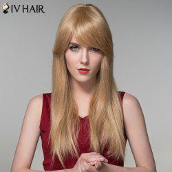Charming Long Side Bang Stylish Straight Capless Human Hair Wig For Women