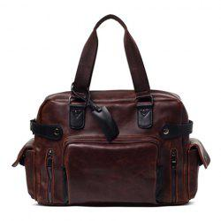 Casual PU Leather and Zippers Design Briefcase For Women -