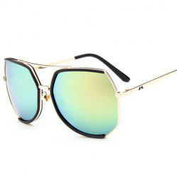 Chic Black Semi-Rimless Match and Metal Leg Design Sunglasses For Women -