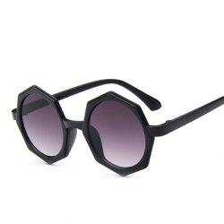 Chic Polygonal Frame Black Sunglasses For Women -