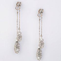 Pair of Chic Rhinestoned Long Style Earrings For Women