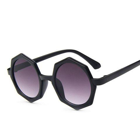 Outfit Chic Polygonal Frame Black Sunglasses For Women
