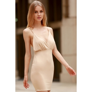 Spaghetti Strap Backless Club Bodycon Skimpy Dress -