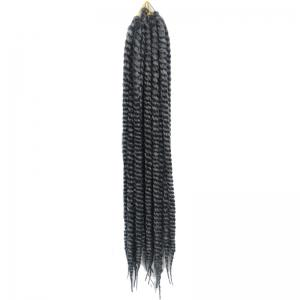 Stylish Long Kanekalon Synthetic White Ombre Dark Gray Dreadlock Braided Hair Extension For Women - Colormix
