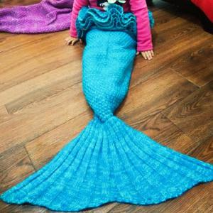 Main Chic Knitting Mermaid Design Bébé Sac de couchage Blanket - Pers Taille Unique(S'adap