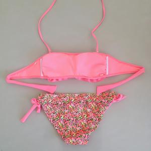 Sweet Halter Flounced Tiny Floral Women's Bikini Set -