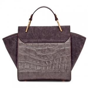 Fashionable Embossing and Splicing Design Tote Bag For Women -