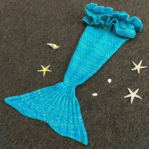 Store Chic Knitting Mermaid Design Baby Sleeping Bag Blanket LAKE BLUE ONE SIZE(FIT SIZE XS TO M)