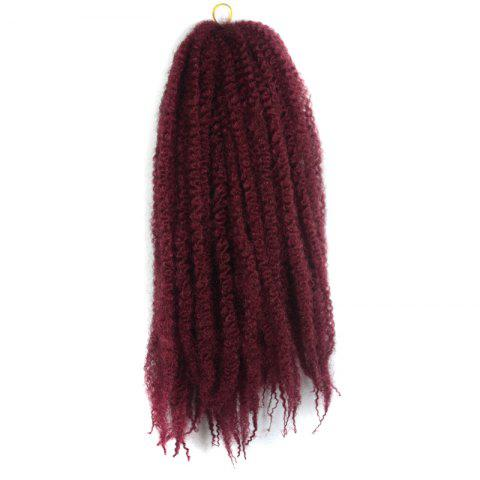 Online Trendy Long Kanekalon Synthetic Fluffy Afro Kinky Curly Braided Hair Extension For Women