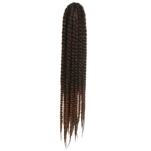 Stunning Dark Brown Ombre Kanekalon Synthetic Long Dreadlock Braided Hair Extension For Women - COLORMIX
