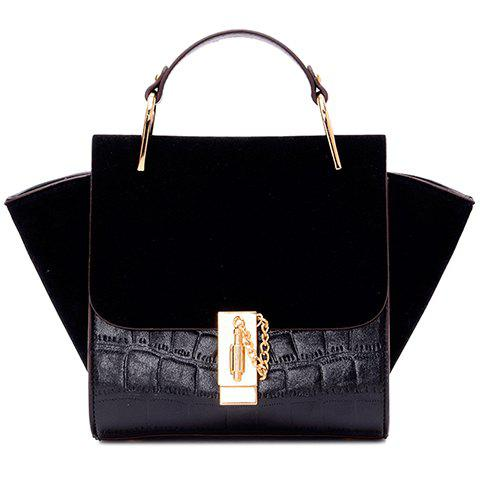 Discount Fashionable Embossing and Splicing Design Tote Bag For Women