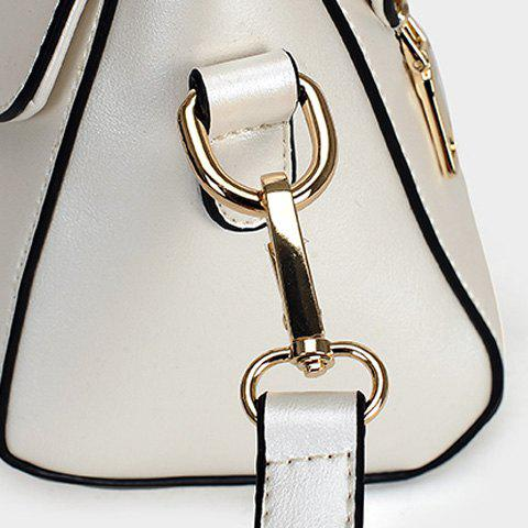 Sale Trendy Solid Colour and Metal Design Crossbody Bag For Women - LIGHT PINK  Mobile