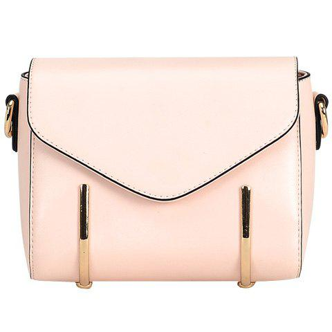 Sale Trendy Solid Colour and Metal Design Crossbody Bag For Women