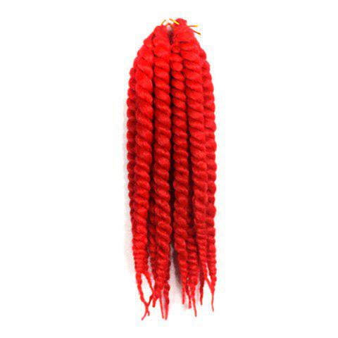 Fashion Stylish Long Kanekalon Synthetic Twist Braided Hair Extension - RED  Mobile