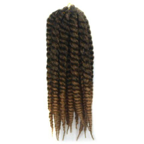 Buy Stylish Long Kanekalon Synthetic Twist Braided Hair Extension BLACK AND BROWN