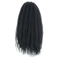 Trendy Long Kanekalon Synthetic Fluffy Afro Kinky Curly Braided Hair Extension For Women - #1B