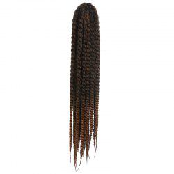 Stunning Dark Brown Ombre Kanekalon Synthetic Long Dreadlock Braided Hair Extension For Women -