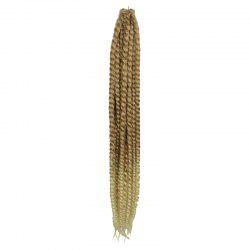 Trendy Flaxen Ombre Blonde Kanekalon Synthetic Long Dreadlock Braided Hair Extension For Women