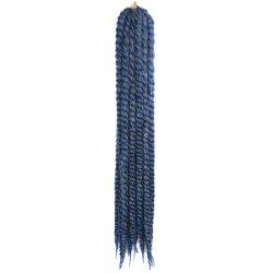 Stylish Three Colors Ombre Long Kanekalon Synthetic Dreadlock Braided Hair Extension For Women -