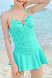 Sexy Halter Bowknot One-Piece Women's Cover Dress -