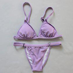 Sexy Adjustable Spaghetti Strap Women's Bikini Set