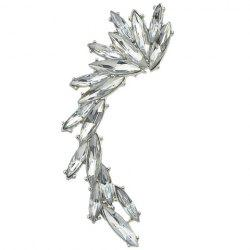 ONE PIECE Vintage Faux Crystal Ear Cuff - SILVER
