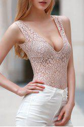 Skinny Lace Cut Out Bodysuit