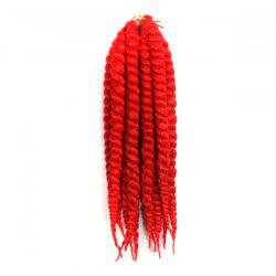 Stylish Long Kanekalon Synthetic Twist Braided Hair Extension - RED