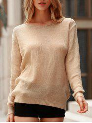 V Neck Loose Knit Jumper