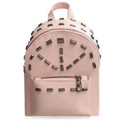 Preppy Style Rivets and PU Leather Design Backpack For Women -