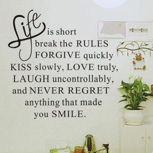 Quality Letters Pattern Removeable Quote Wall Stickers