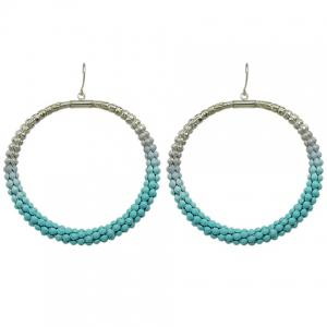 Pair of Round Hollow Out Drop Earrings