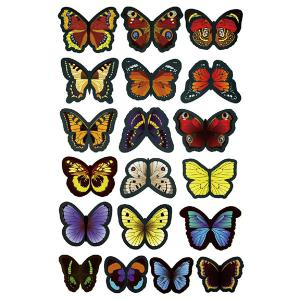 Colorful Butterflies Qualité 3D Shape Removeable Stickers muraux - Multicolore