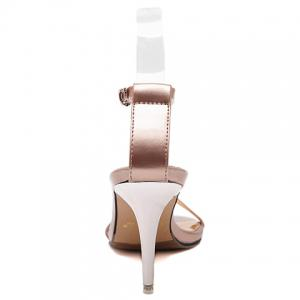 Ladylike Ankle Strap and Stiletto Heel Design Sandals For Women -