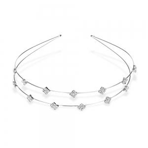Stylish Rhinestone Rhombus Hairband For Women - Silver - S