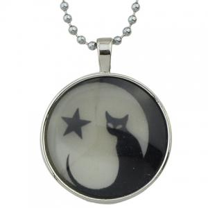 Kitten Star Pendant Necklace