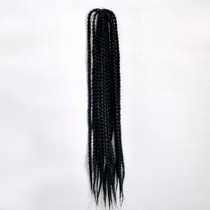 Fashion 14Pcs/Lot Long Synthetic Handmade Large Braided Hair Extension For Women - Black