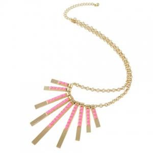 Retro Rectangle Bar Necklace -