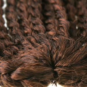 Fashion Handmade Medium Braided 14Pcs/Lot Dark Brown Ombre Synthetic Hair Extension For Women -