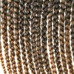 Stunning 18Pcs/Lot Long Brown Ombre Synthetic Handmade Small Braided Hair Extension For Women -