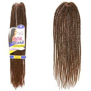 Stylish Dark Brown Ombre Synthetic 18Pcs/Lot Handmade Small Braided Hair Extension For Women