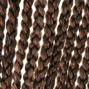Stylish Dark Brown Ombre Synthetic 18Pcs/Lot Handmade Small Braided Hair Extension For Women - COLORMIX