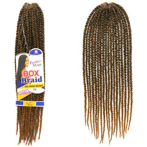 Online Vogue 14Pcs/Lot Brown Ombre Synthetic Handmade Medium Braided Hair Extension For Women