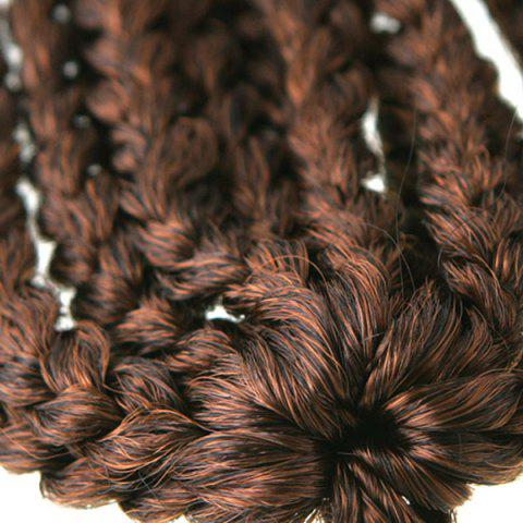 Cheap Stunning 14Pcs/Lot Dark Brown Ombre Synthetic Handmade Large Braided Hair Extension For Women - COLORMIX  Mobile