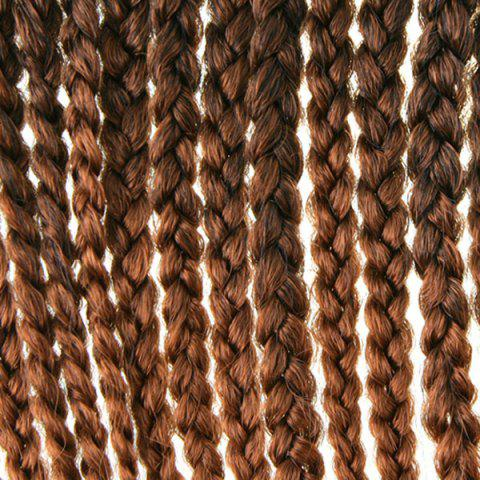 Best Stunning 14Pcs/Lot Dark Brown Ombre Synthetic Handmade Large Braided Hair Extension For Women - COLORMIX  Mobile