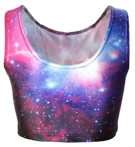 Shops Galaxy Cropped Tank Top
