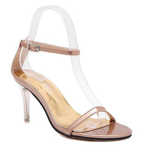 Fashion Ladylike Ankle Strap and Stiletto Heel Design Sandals For Women