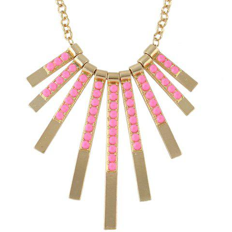 Affordable Retro Rectangle Bar Necklace