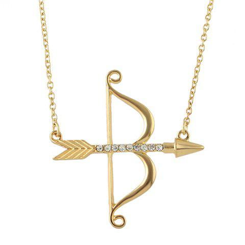 Affordable Rhinestone Arrow Bow Shape Necklace